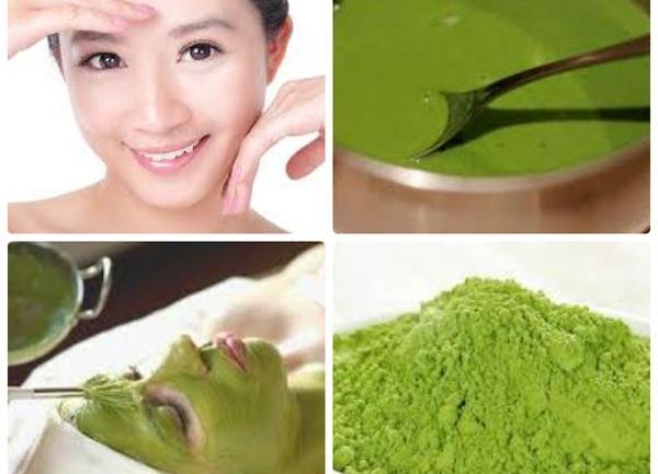 Những công thức làm mặt nạ đắp mặt với bột trà xanh