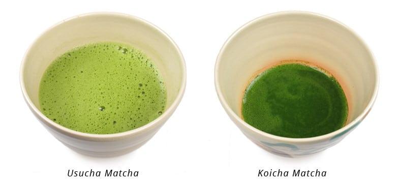 cách pha trà kiểu koicha và ushucha